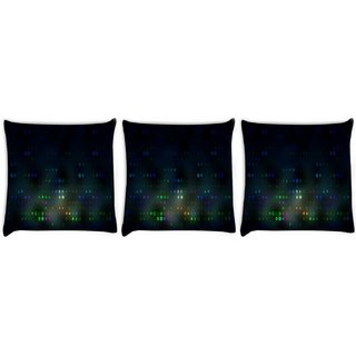 Snoogg Pack Of 3 Blurred Dots Digitally Printed Cushion Cover Pillow 8 X 8 Inch