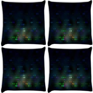 Snoogg Pack Of 4 Blurred Dots Digitally Printed Cushion Cover Pillow 8 X 8 Inch