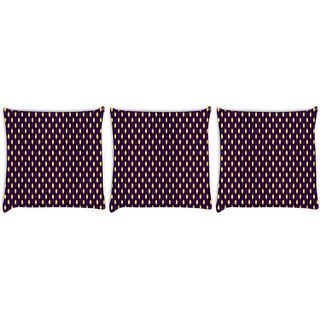 Snoogg Pack Of 3 Blurry Pattern Digitally Printed Cushion Cover Pillow 8 X 8 Inch