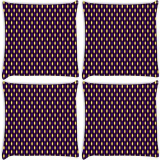 Snoogg Pack Of 4 Blurry Pattern Digitally Printed Cushion Cover Pillow 8 X 8 Inch