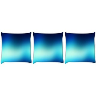 Snoogg Pack Of 3 Blur Wallpapers Digitally Printed Cushion Cover Pillow 8 X 8 Inch