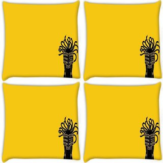 Snoogg Pack Of 4 Medusa Digitally Printed Cushion Cover Pillow 8 X 8 Inch