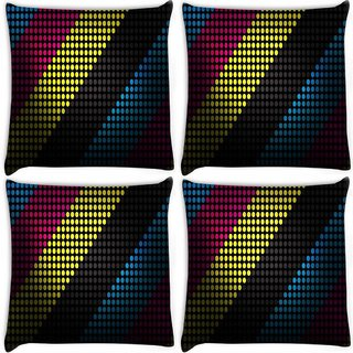 Snoogg Pack Of 4 Techno Desktop Digitally Printed Cushion Cover Pillow 8 X 8 Inch