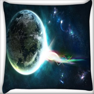 Snoogg Abstract Earth Digitally Printed Cushion Cover Pillow 24 X 24 Inch
