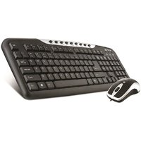 Intex DUO-313 Keyboard And Mouse Combo (Black/Silver)