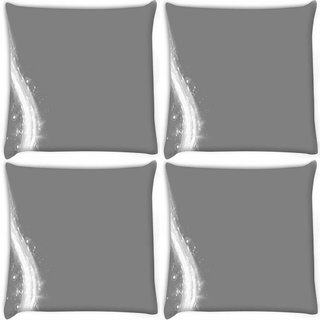 Snoogg Pack Of 4 Grey Patterns Digitally Printed Cushion Cover Pillow 10 x 10 Inch