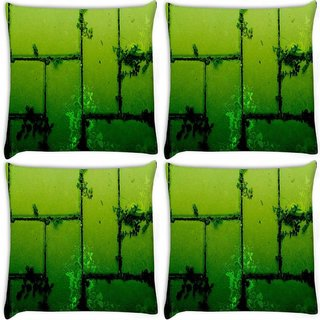 Snoogg Pack Of 4 Csscreme Walls Digitally Printed Cushion Cover Pillow 10 x 10 Inch