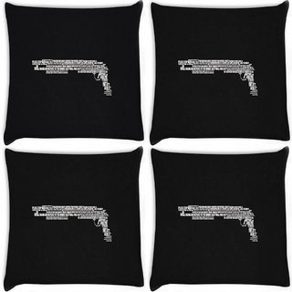 Snoogg Pack Of 4 Minimalism Digitally Printed Cushion Cover Pillow 10 x 10 Inch