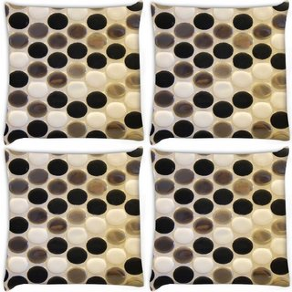 Snoogg Pack Of 4 Multicolor Spots Digitally Printed Cushion Cover Pillow 10 x 10 Inch