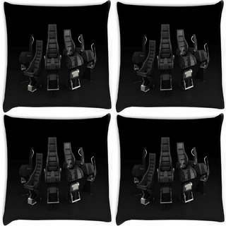 Snoogg Pack Of 4 Desktop Background Range Digitally Printed Cushion Cover Pillow 10 x 10 Inch