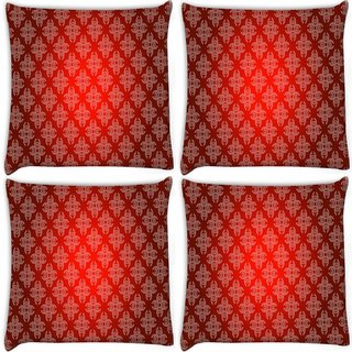 Snoogg Pack Of 4 Mixed Color Spots Digitally Printed Cushion Cover Pillow 10 x 10 Inch