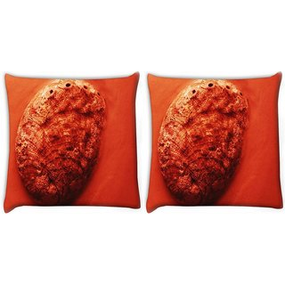 Snoogg Pack Of 2 Sand Rock Digitally Printed Cushion Cover Pillow 10 x 10 Inch