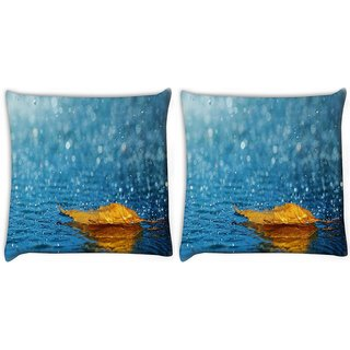 Snoogg Pack Of 2 Cool Hd Widescreen Moving Wallpapers Digitally Printed Cushion Cover Pillow 10 x 10 Inch