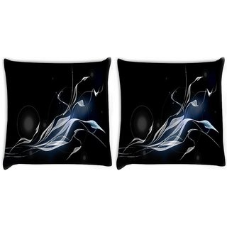 Snoogg Pack Of 2 Cool Wallpapers For Walls Digitally Printed Cushion Cover Pillow 10 x 10 Inch