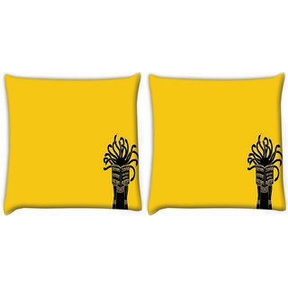 Snoogg Pack Of 2 Medusa Digitally Printed Cushion Cover Pillow 10 x 10 Inch