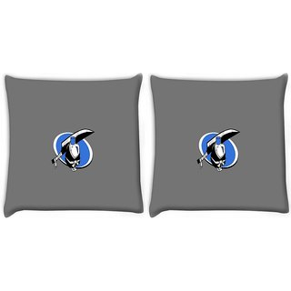 Snoogg Pack Of 2 Minimalistic Bleach Digitally Printed Cushion Cover Pillow 10 x 10 Inch