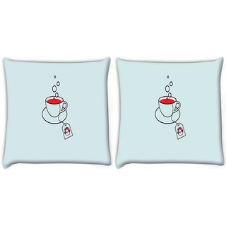 Snoogg Pack Of 2 Minimalistic Mario Digitally Printed Cushion Cover Pillow 10 x 10 Inch