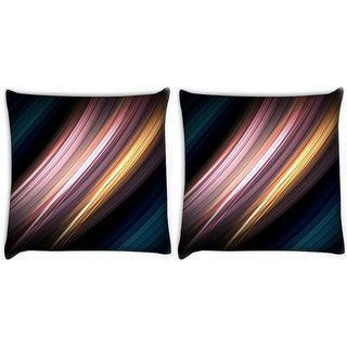 Snoogg Pack Of 2 Motion Senses Digitally Printed Cushion Cover Pillow 10 x 10 Inch