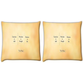 Snoogg Pack Of 2 Victor Hugo Digitally Printed Cushion Cover Pillow 10 x 10 Inch