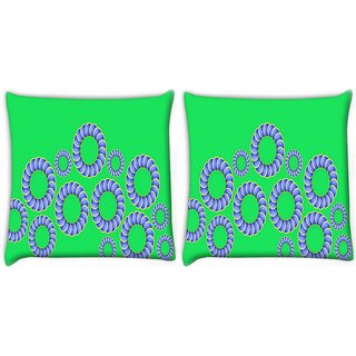 Snoogg Pack Of 2 Moving Opticals Digitally Printed Cushion Cover Pillow 10 x 10 Inch
