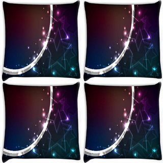 Snoogg Pack Of 4 Crystals Stars Digitally Printed Cushion Cover Pillow 10 x 10 Inch