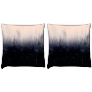 Snoogg Pack Of 2 Abstract Wall Digitally Printed Cushion Cover Pillow 10 x 10 Inch