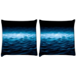 Snoogg Pack Of 2 Patternd Abstract Design Digitally Printed Cushion Cover Pillow 10 x 10 Inch