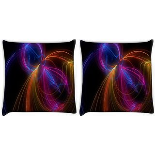 Snoogg Pack Of 2 Desktop Picture Beruska Digitally Printed Cushion Cover Pillow 10 x 10 Inch