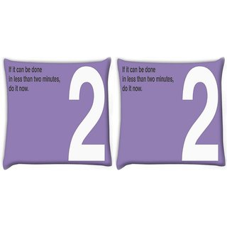 Snoogg Pack Of 2 Do It Now Digitally Printed Cushion Cover Pillow 10 x 10 Inch