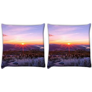 Snoogg Pack Of 2 Splendid Fantasy Digitally Printed Cushion Cover Pillow 10 x 10 Inch