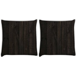 Snoogg Pack Of 2 Opera Wood Digitally Printed Cushion Cover Pillow 10 x 10 Inch