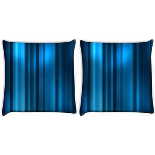 Snoogg Pack Of 2 Blue Dark Pattern Digitally Printed Cushion Cover Pillow 10 x 10 Inch