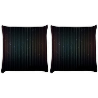 Snoogg Pack Of 2 Dark Color Background Digitally Printed Cushion Cover Pillow 10 x 10 Inch