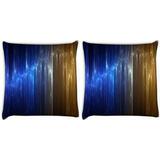 Snoogg Pack Of 2 Colorful Crystals Design Digitally Printed Cushion Cover Pillow 10 x 10 Inch