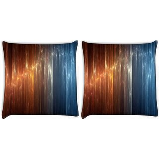 Snoogg Pack Of 2 Vertical Crystal Design Digitally Printed Cushion Cover Pillow 10 x 10 Inch