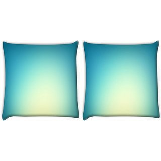 Snoogg Pack Of 2 Lite Blue Background Digitally Printed Cushion Cover Pillow 10 x 10 Inch