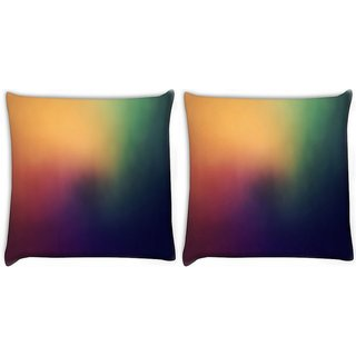Snoogg Pack Of 2 Lite To Dark From Corner Digitally Printed Cushion Cover Pillow 10 x 10 Inch