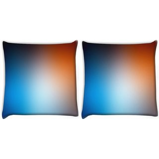 Snoogg Pack Of 2 Mixed Faded Design Digitally Printed Cushion Cover Pillow 10 x 10 Inch