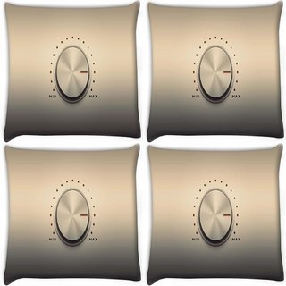 Snoogg Pack Of 4 Min Max Digitally Printed Cushion Cover Pillow 10 x 10 Inch