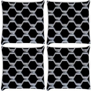 Snoogg Pack Of 4 Train Cage Digitally Printed Cushion Cover Pillow 10 x 10 Inch
