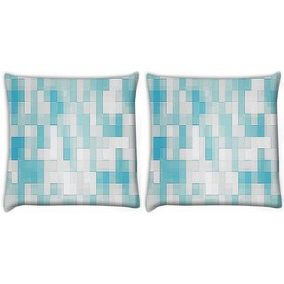 Snoogg Pack Of 2 Glazy Blocks Digitally Printed Cushion Cover Pillow 10 x 10 Inch