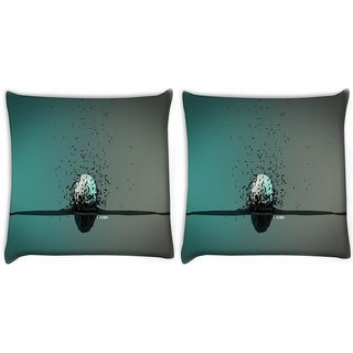 Snoogg Pack Of 2 Explosion Around A Sphere Digitally Printed Cushion Cover Pillow 10 x 10 Inch