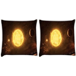 Snoogg Pack Of 2 Final Fantasy Digitally Printed Cushion Cover Pillow 10 x 10 Inch