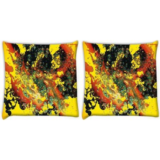 Snoogg Pack Of 2 Paint Splattered In Water Digitally Printed Cushion Cover Pillow 10 x 10 Inch