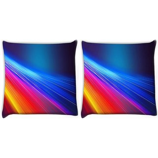 Snoogg Pack Of 2 Multicolor Pathway Digitally Printed Cushion Cover Pillow 10 x 10 Inch