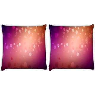Snoogg Pack Of 2 Red And Pink Pattern Design Digitally Printed Cushion Cover Pillow 10 x 10 Inch