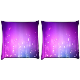 Snoogg Pack Of 2 Purple Background Pattern Design Digitally Printed Cushion Cover Pillow 10 x 10 Inch