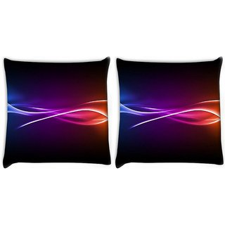 Snoogg Pack Of 2 Abstract Rays Pattern Digitally Printed Cushion Cover Pillow 10 x 10 Inch
