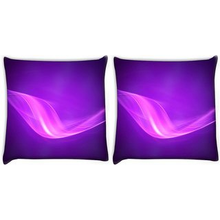 Snoogg Pack Of 2 Purple Pattern Design Digitally Printed Cushion Cover Pillow 10 x 10 Inch