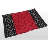 Designer Door Mat - Red&Black
